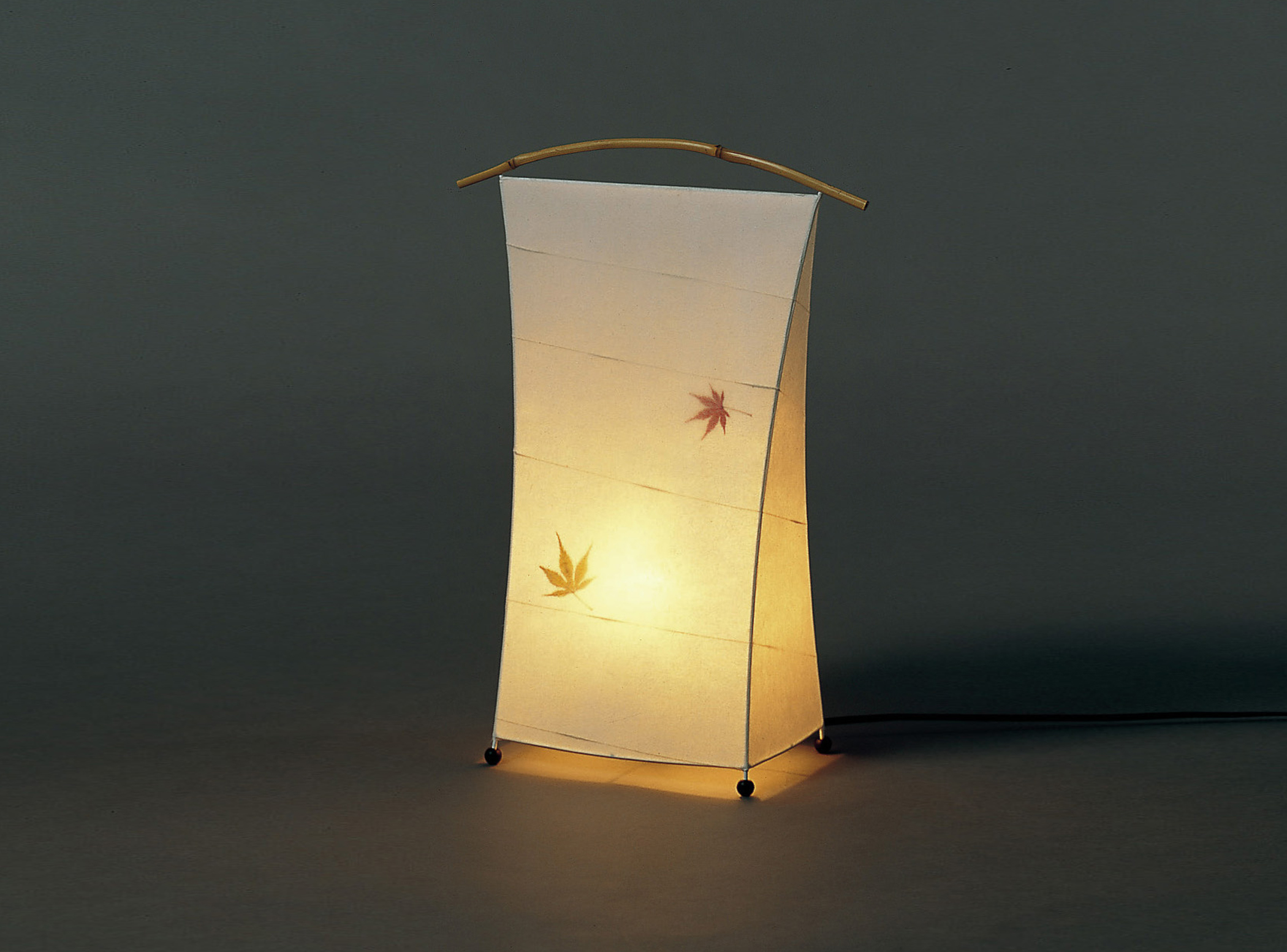 Bamboo Handle Autumn Leaves Standing Lamp 171 Unique Japan