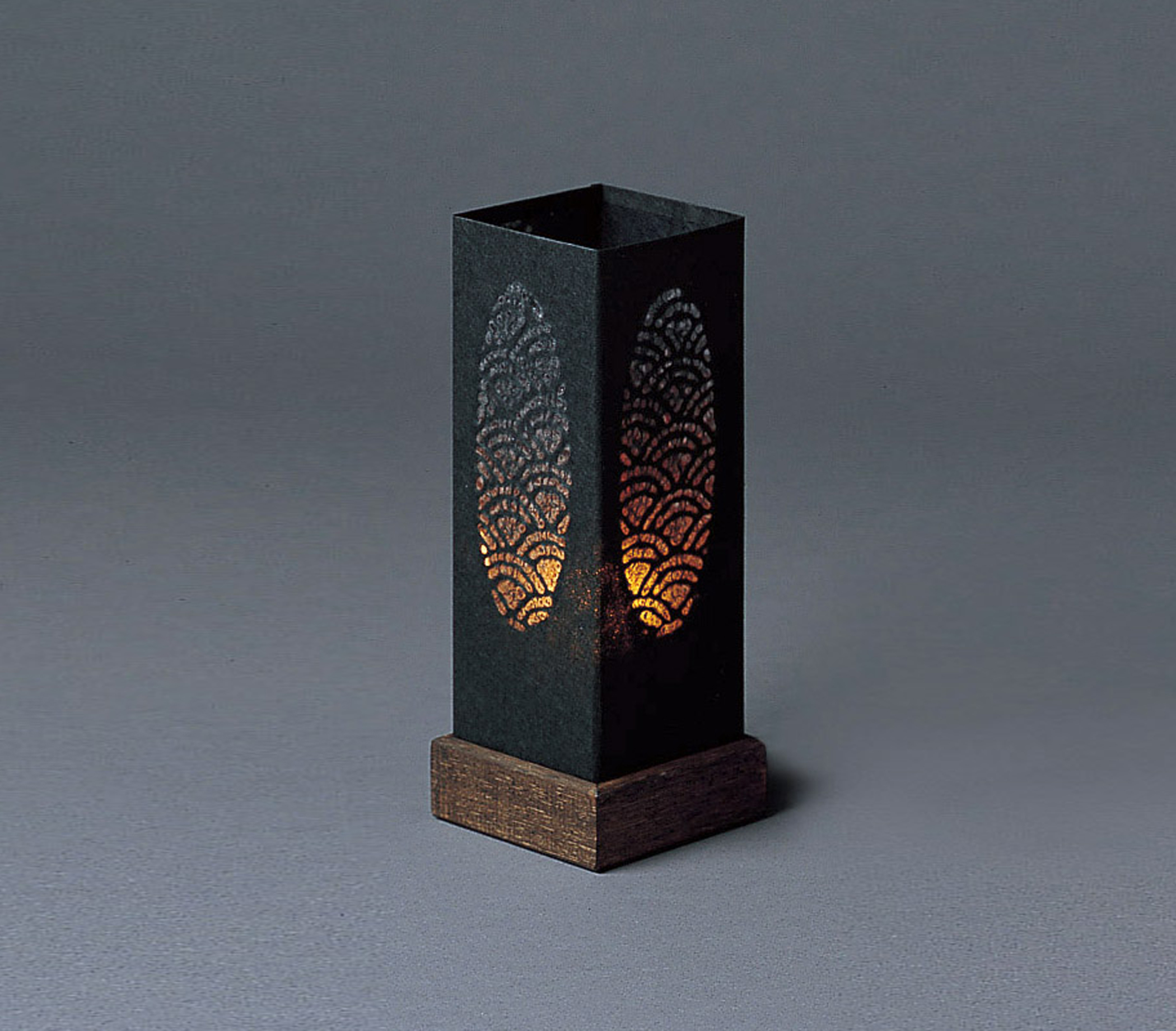 Black candle table lamp unique japan - Hand made lamps ...
