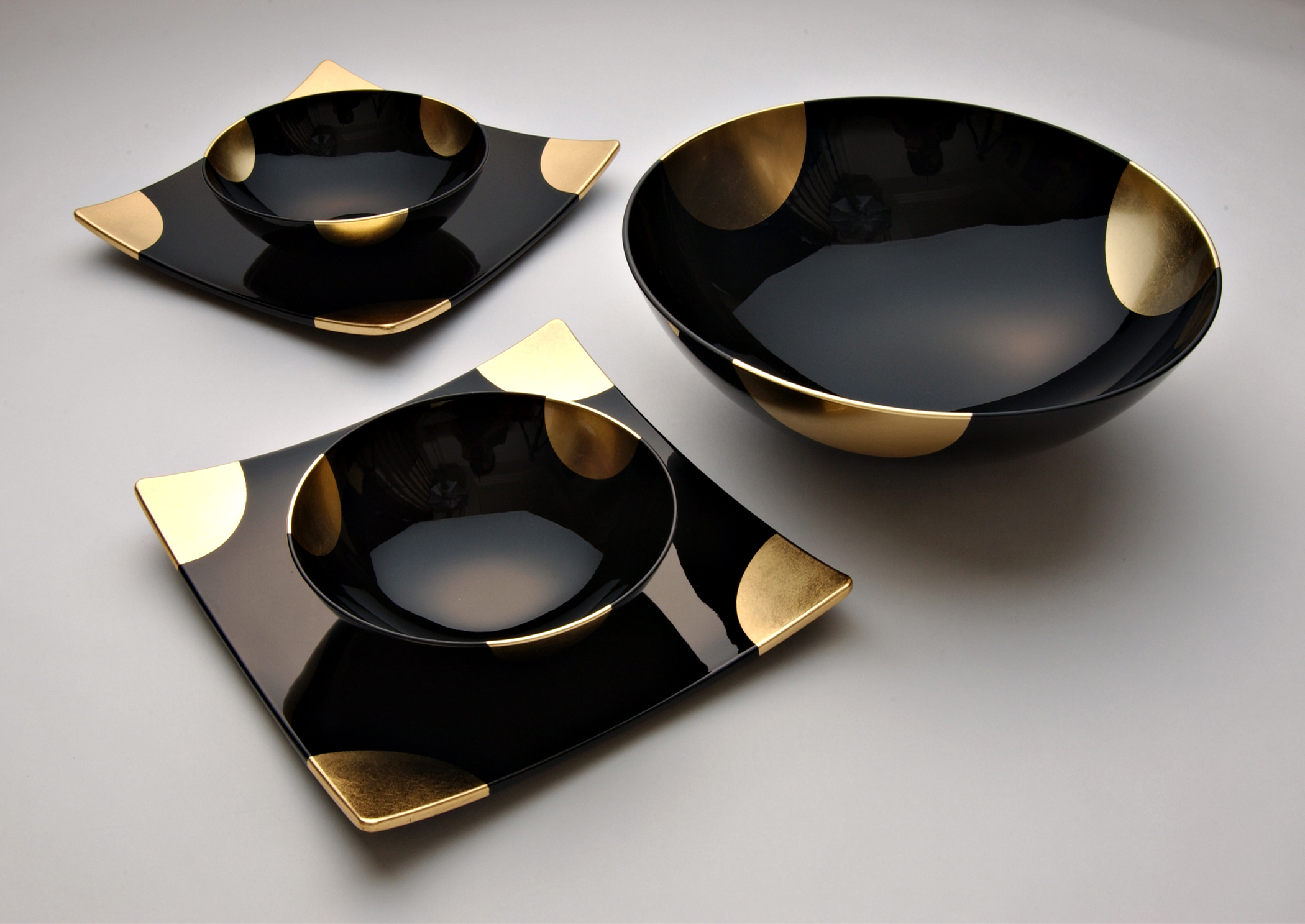 A touch of gold dining set large bowl « unique japan