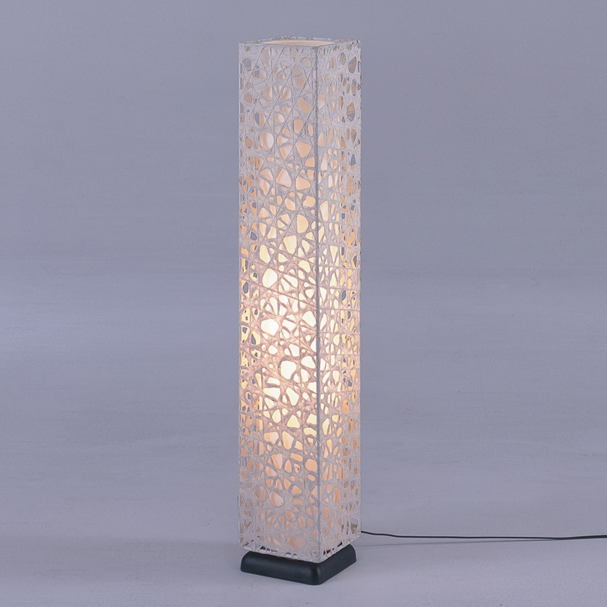 ... Art Paper Lamp in Beige Handmade using authentic Japanese washi paper