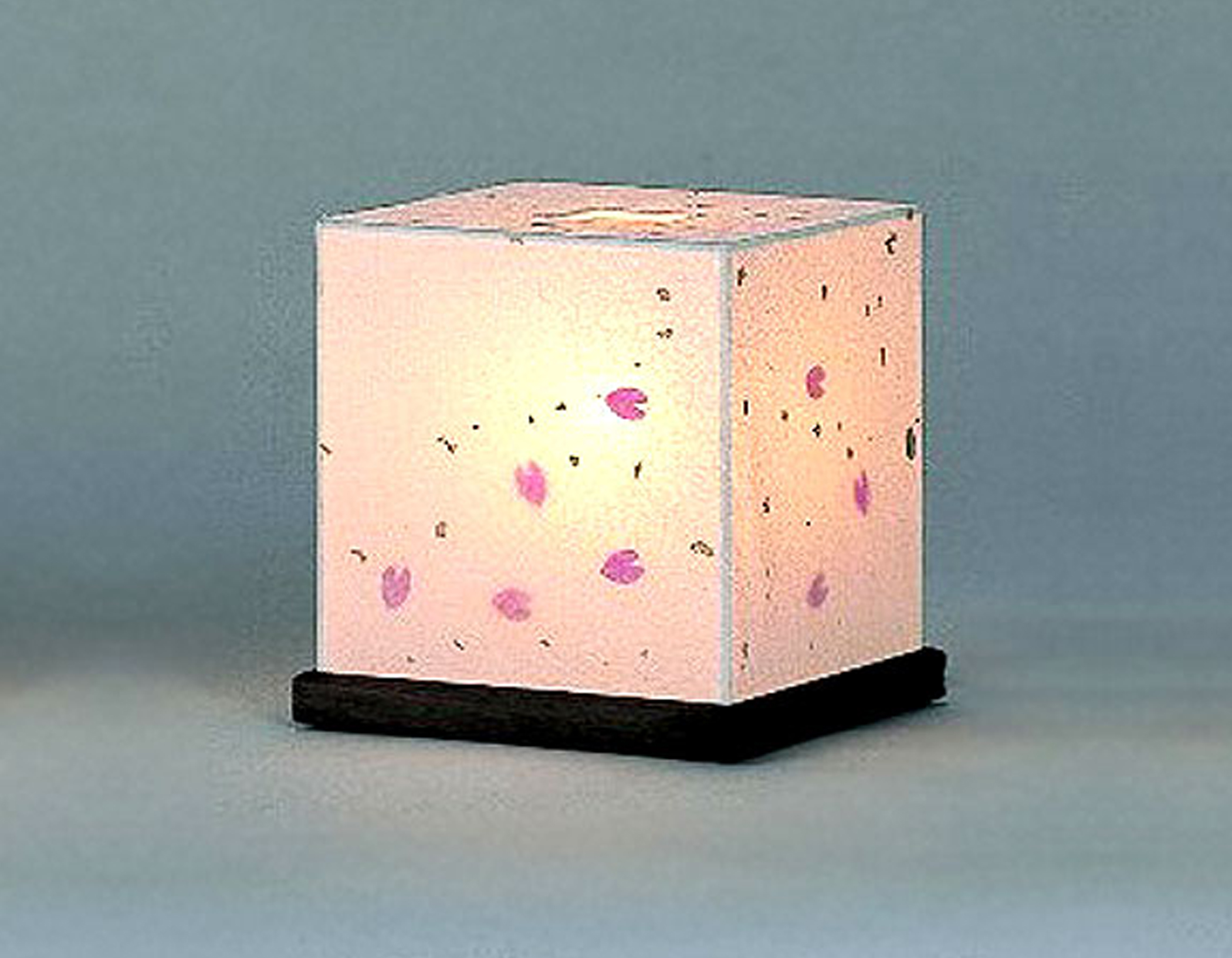 Delightful Petite Cherry Blossom Petal Table Lamp Handmade Using Authentic Japanese  Washi Paper
