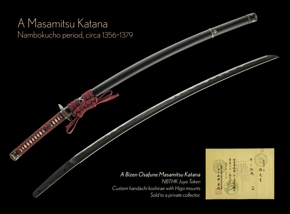 View Details of A Masamitsu Katana NBTHK Juyo Token - Sold to a Private Collector