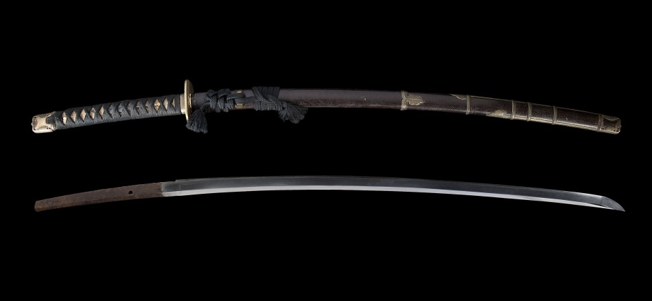 Late Edo Extra Long 76 5cm Katana With Han Dachi Koshirae