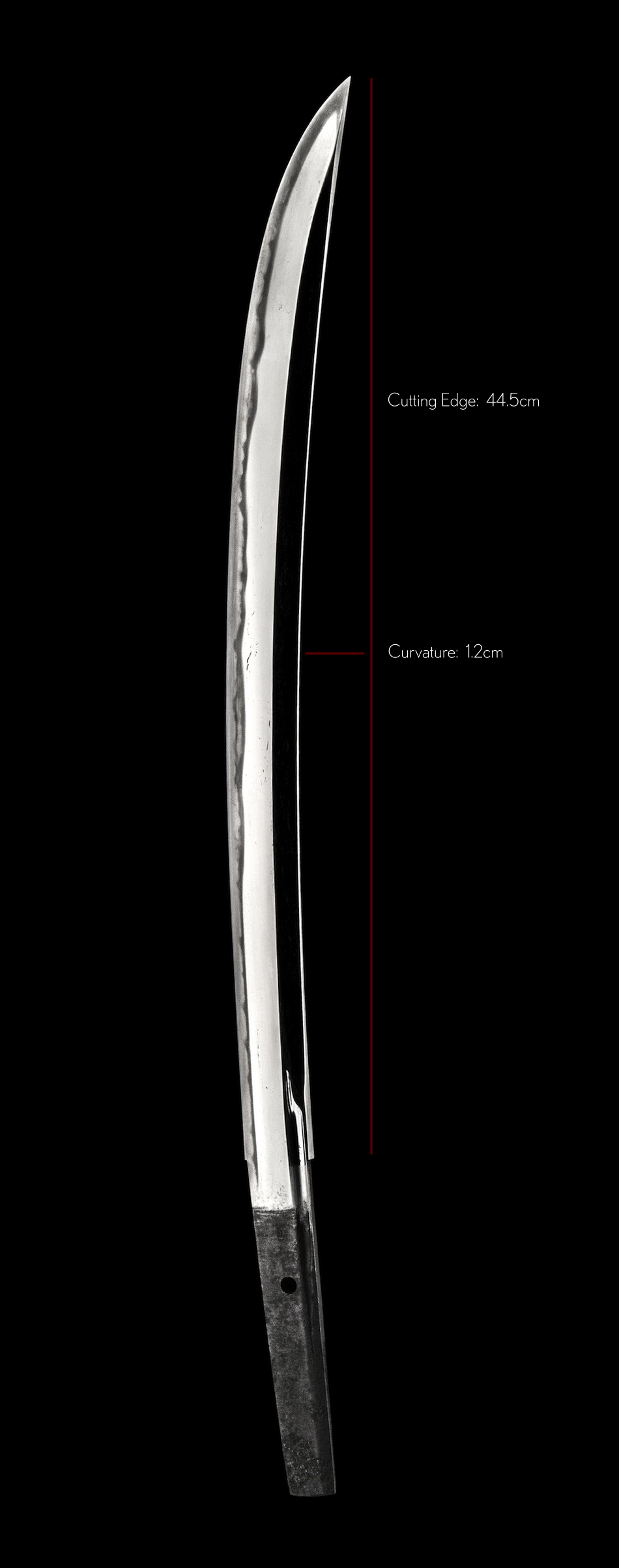 A Morokage Wakizashi - Length and Curvature