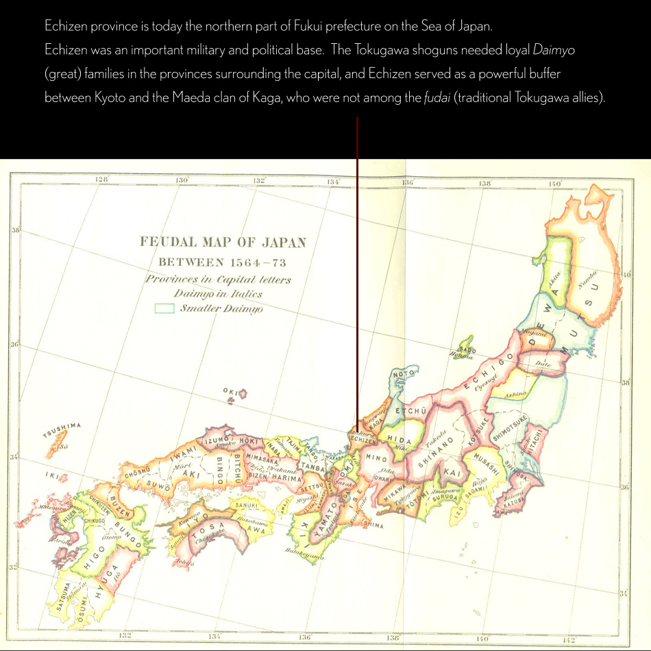 Feudal Map of Japan - Echizen