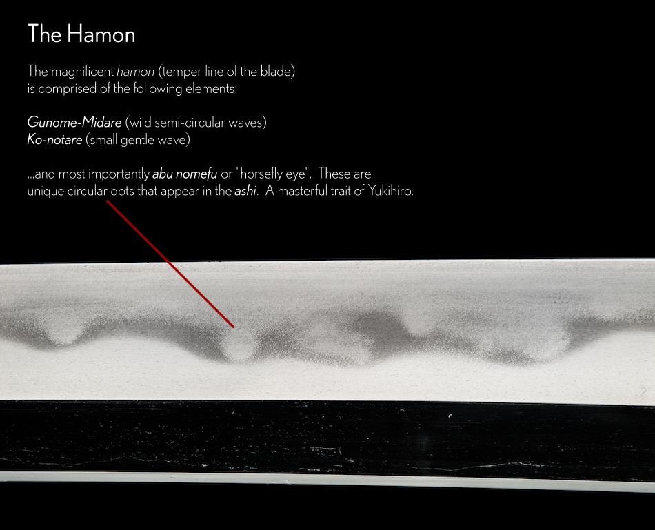The Hizen Yukihiro Horsefly Hamon