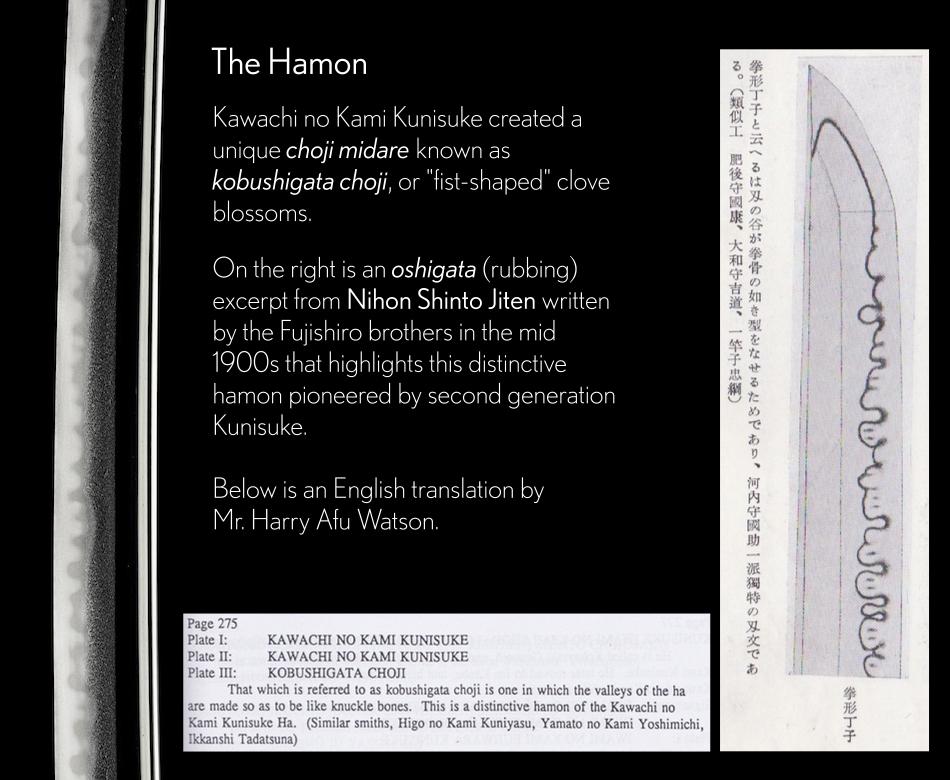 A Kunisuke II Kobushigata Hamon Described