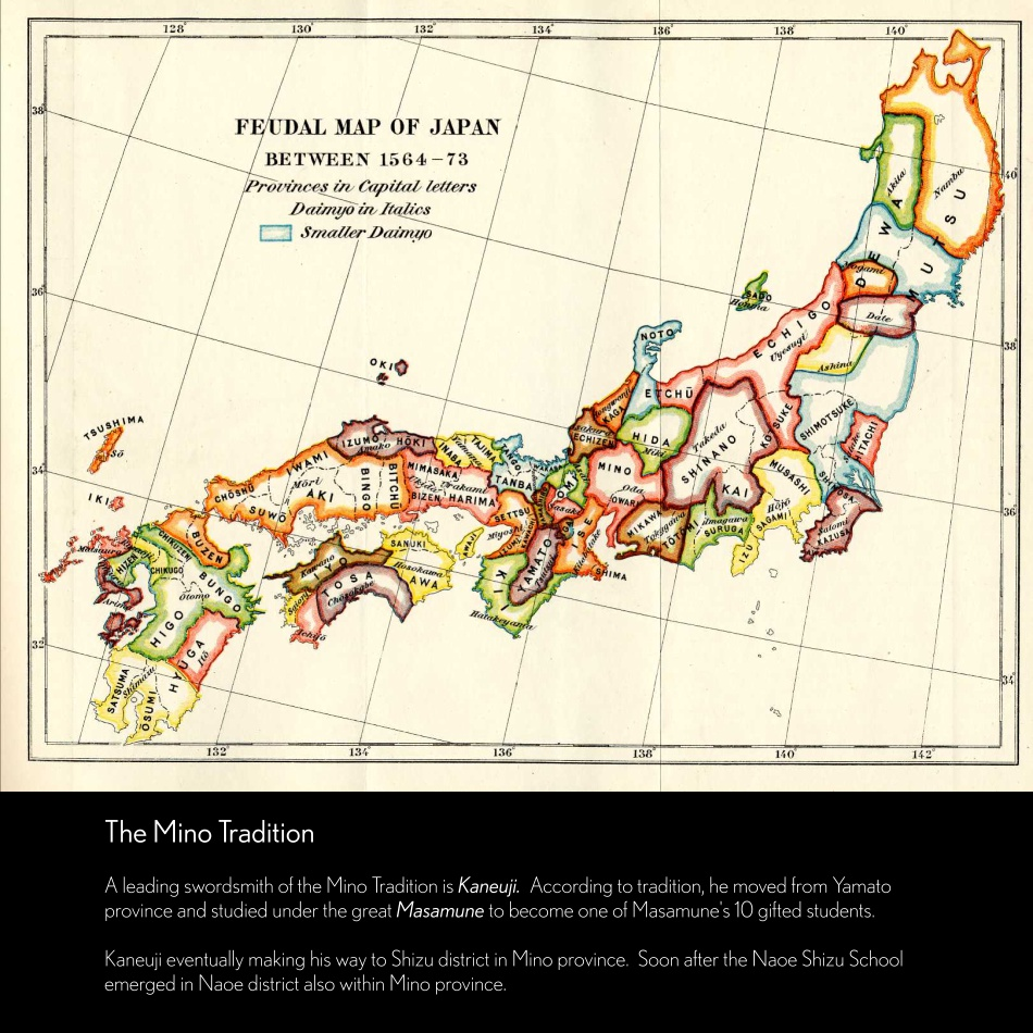 Mino Tradition Feudal Map of Japan