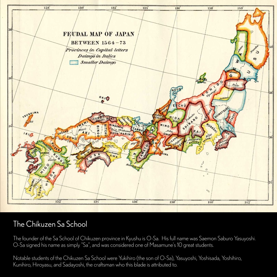 Tradition Feudal Map of Japan Chizuzen Sa