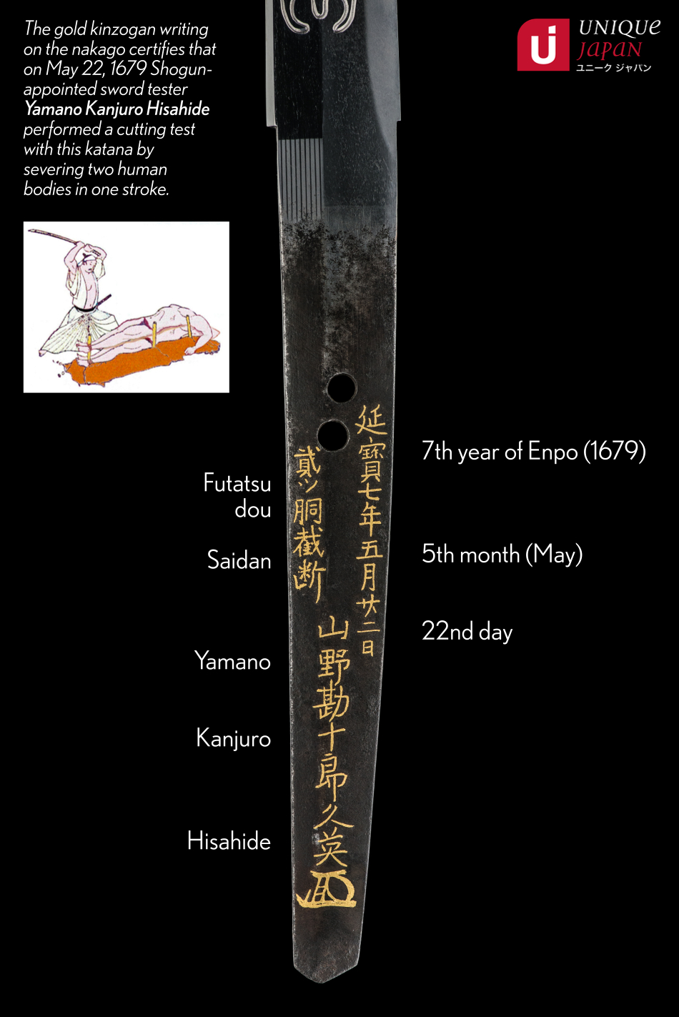 ujka139 - A Masanori Katana Cutting Test - Nakago