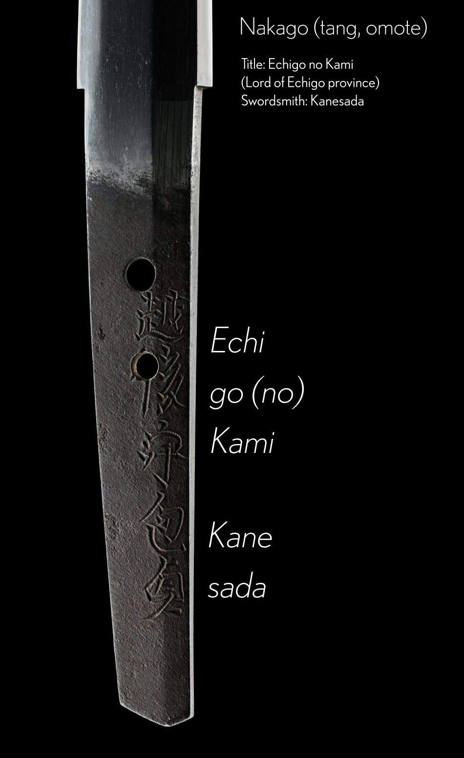 ujwa145 - A Kanesada Terukane Wakizashi - Nakago