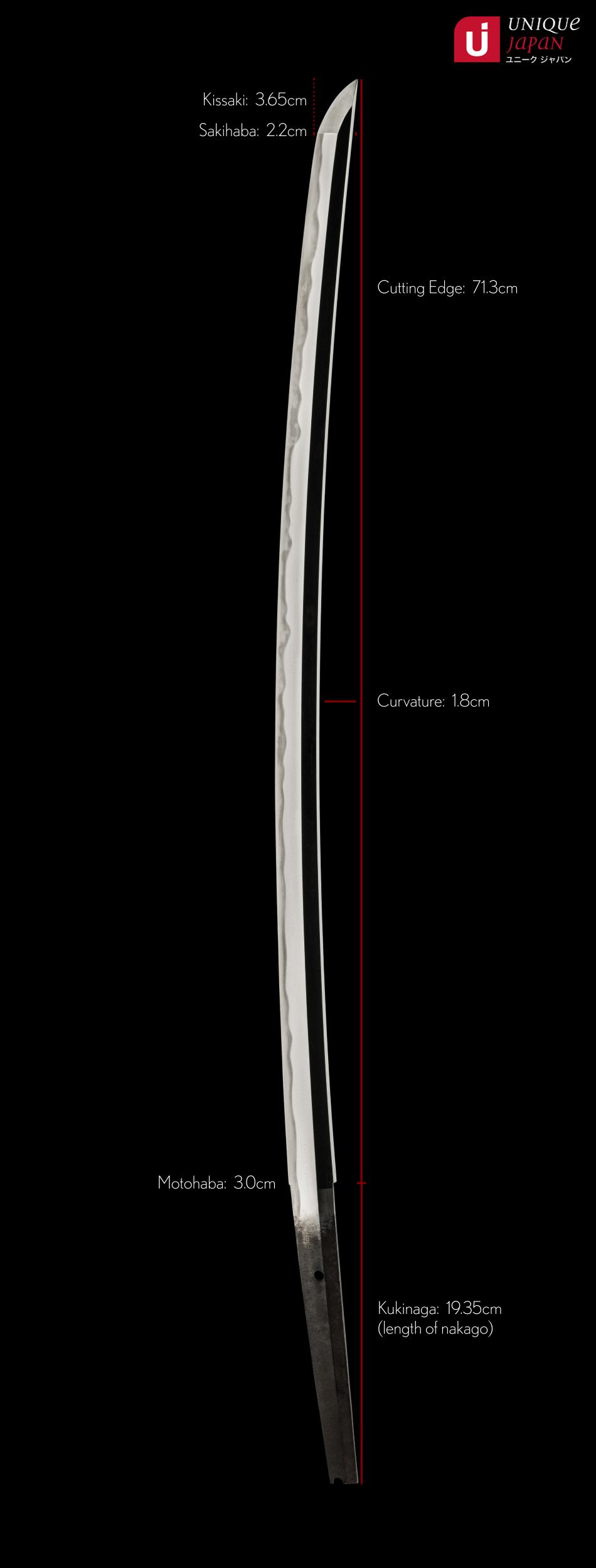 ujka138 - A Yamato Shizu Katana - 19th Juyo Token - Measurements