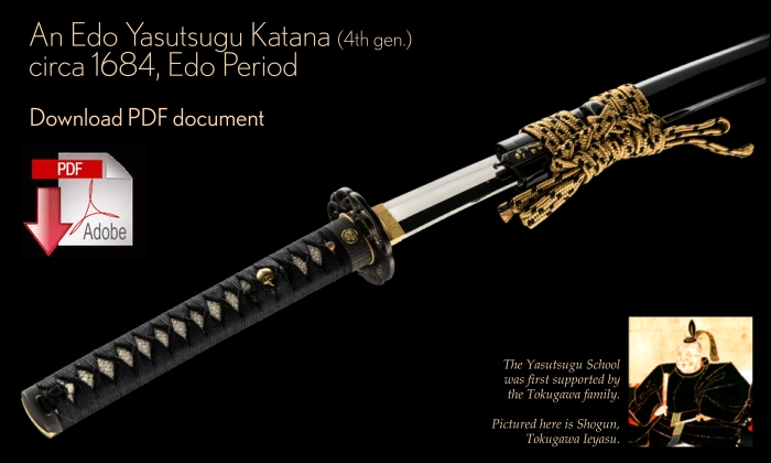 View Details of a 4th Generation Yasutsugu Katana from Unique Japan PDF